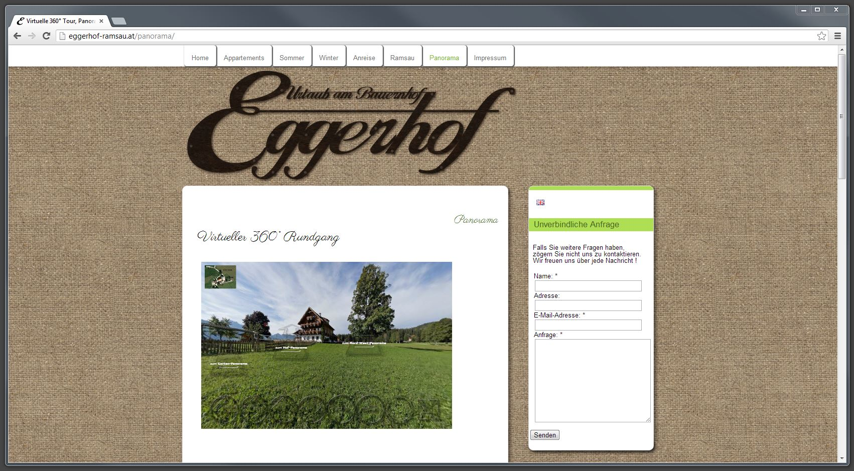 Eggerhof – Website