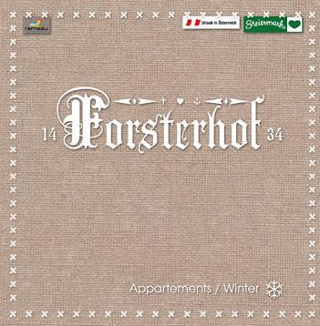 Forsterhof Appartements – Geschäftsdrucksorten