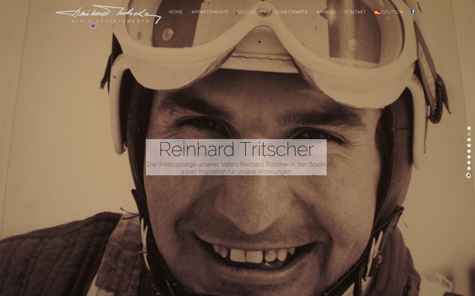 Alpin Appartements Reinhardt Tritscher – Website
