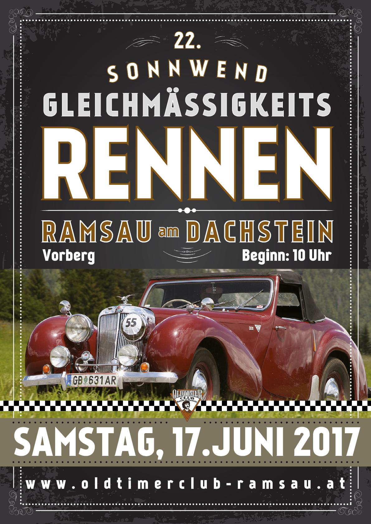 Oldtimerclub Ramsau – Folder + Plakat