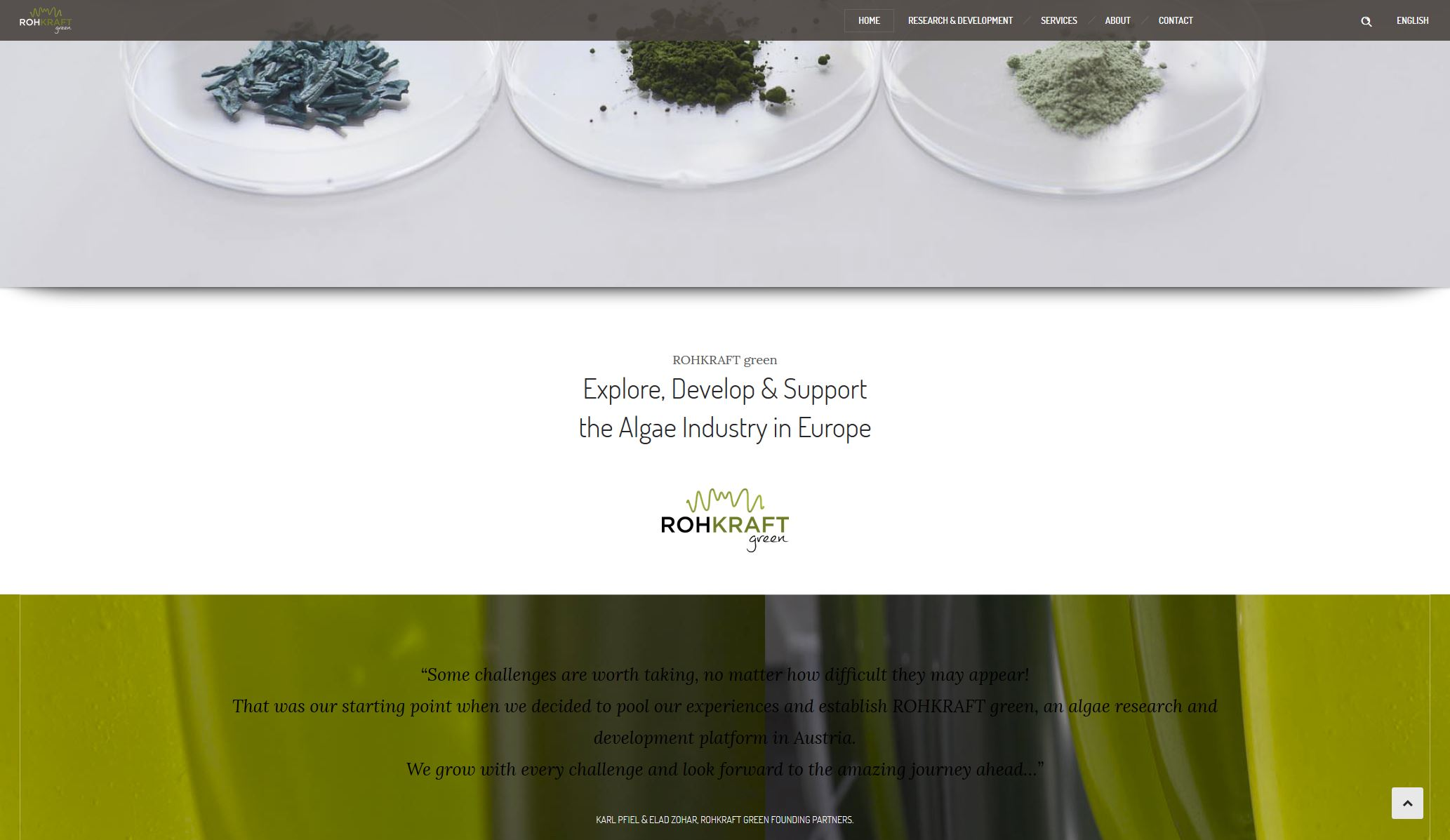 ROHKRAFT green – Website