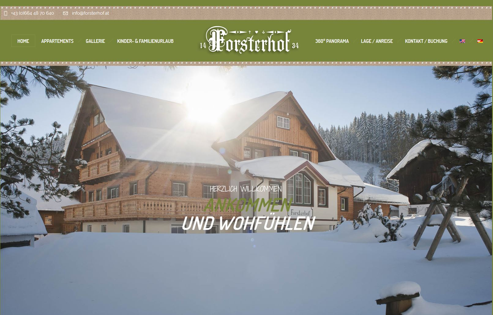 Forsterhof Appartements – Website neu