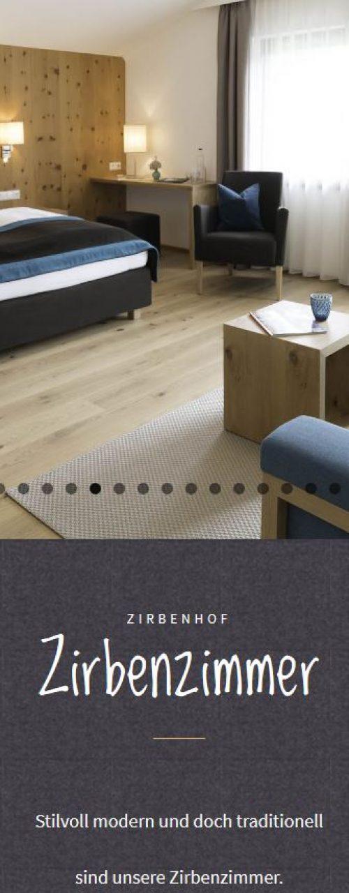 Zirbenhof Ramsau -Website
