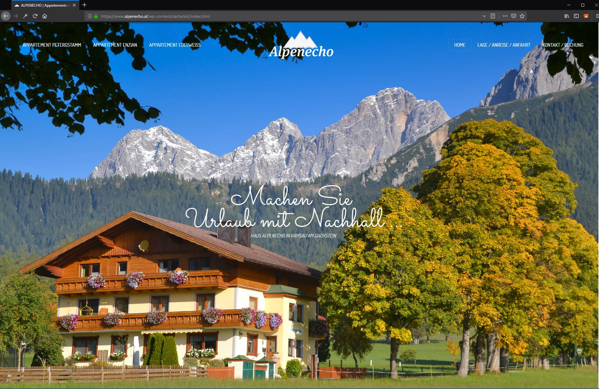 Alpenecho Ramsau – Website
