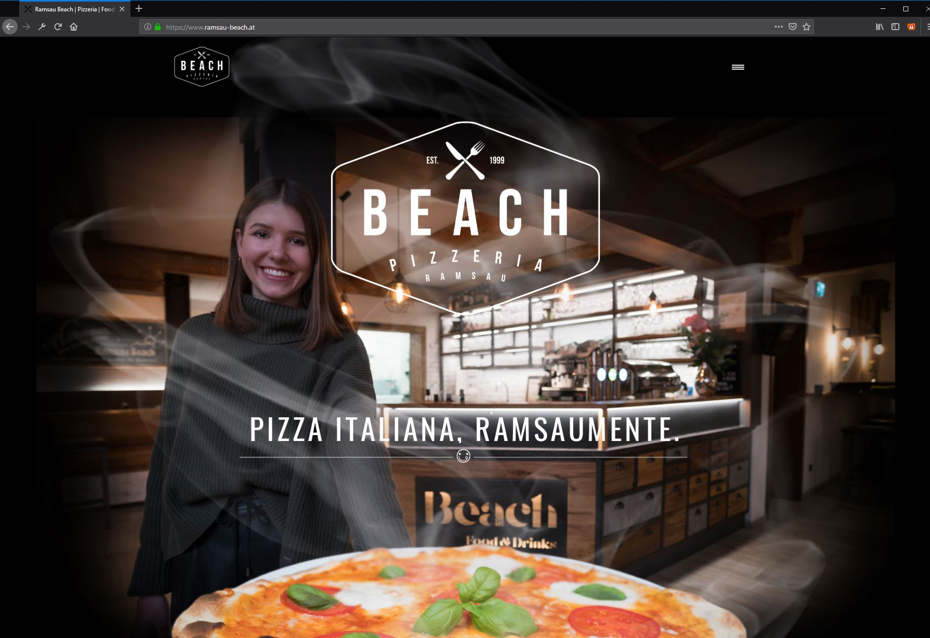 Ramsau Beach Pizzeria – Website