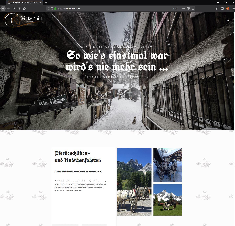 Fiakerwirt / Alt-Filzmoos – Website