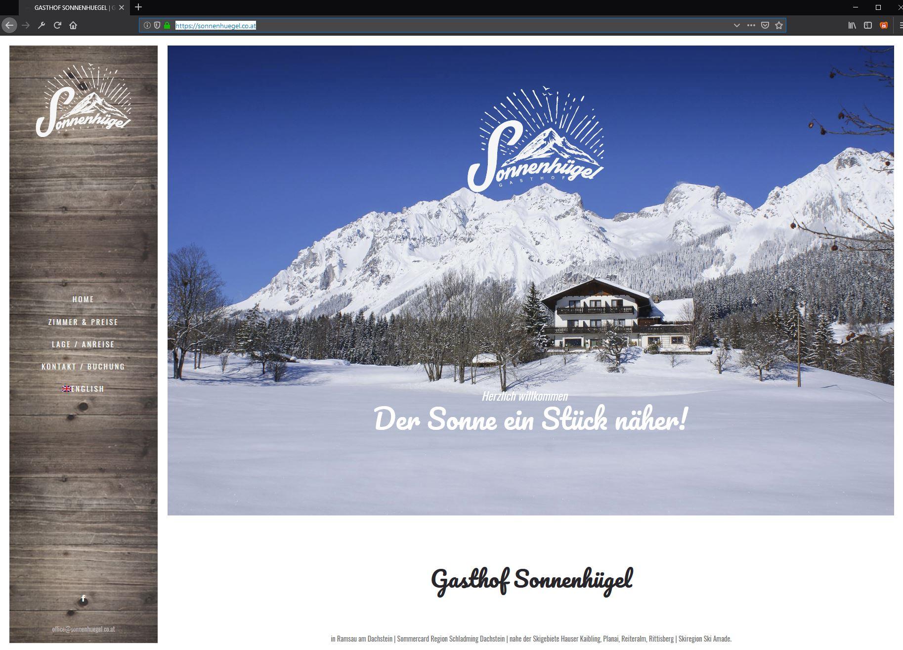 Gasthof Sonnenhügel – Website