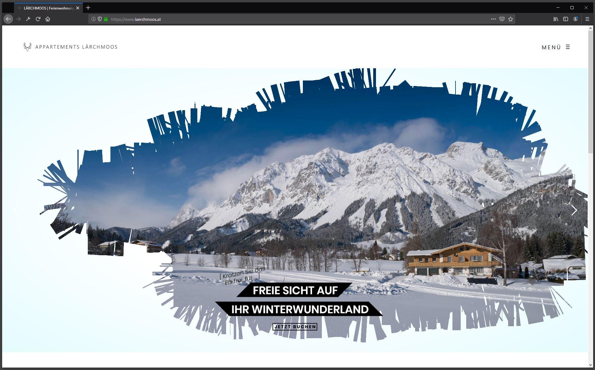 Appartements Lärchmoos – Website Relaunch