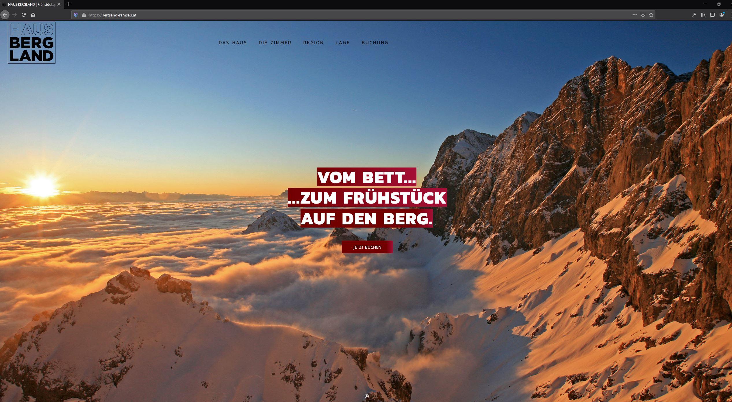 Haus Bergland – Website
