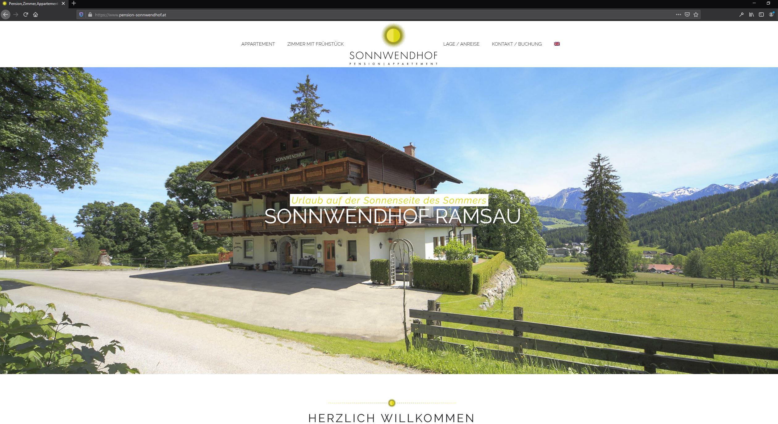 Sonnwendhof Ramsau – Website