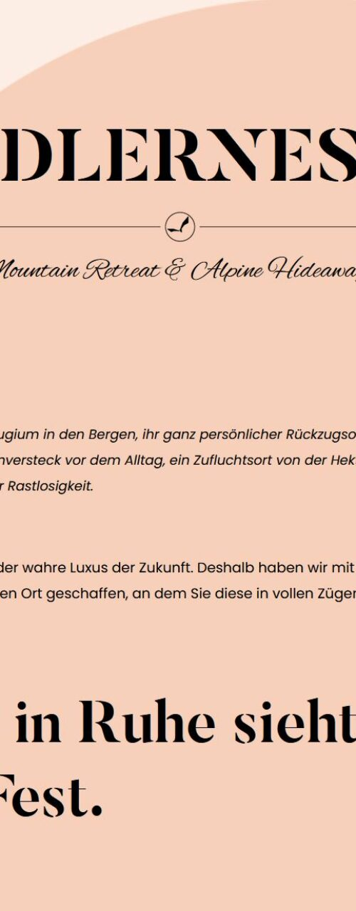 Adlernest – Website