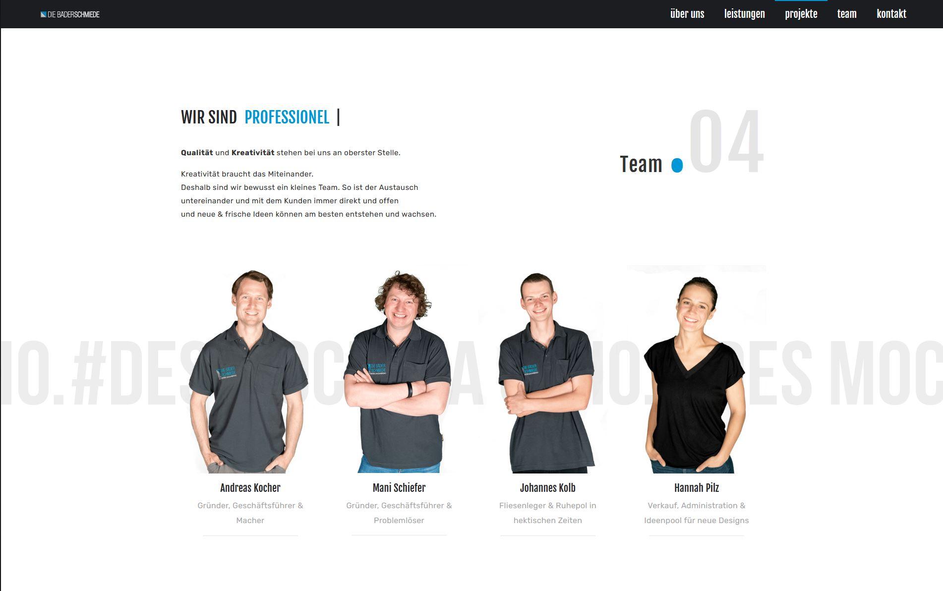 Die Bäderschmiede – Website